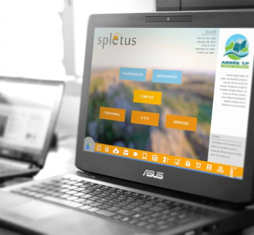 design interface logiciel spletus