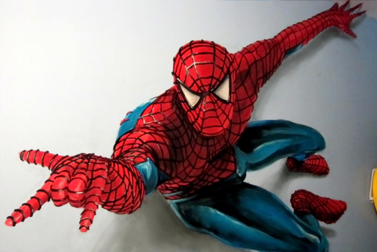 peinture spiderman
