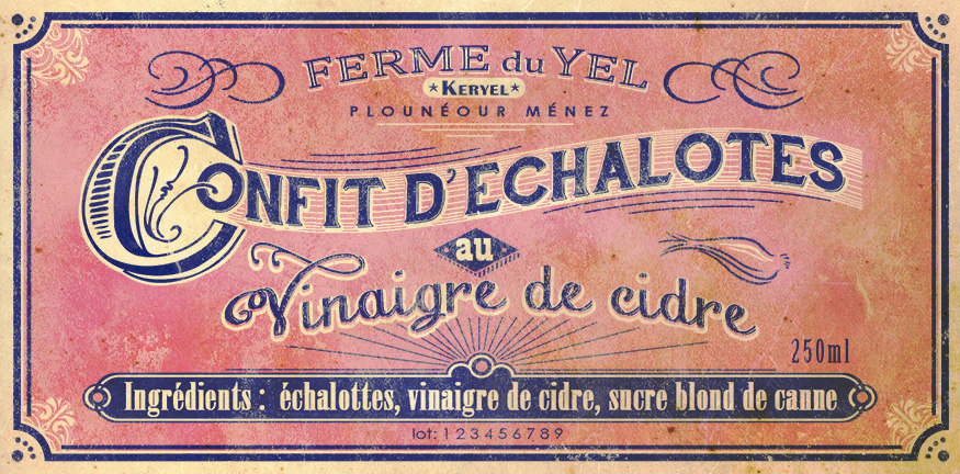étiquette confit vintage