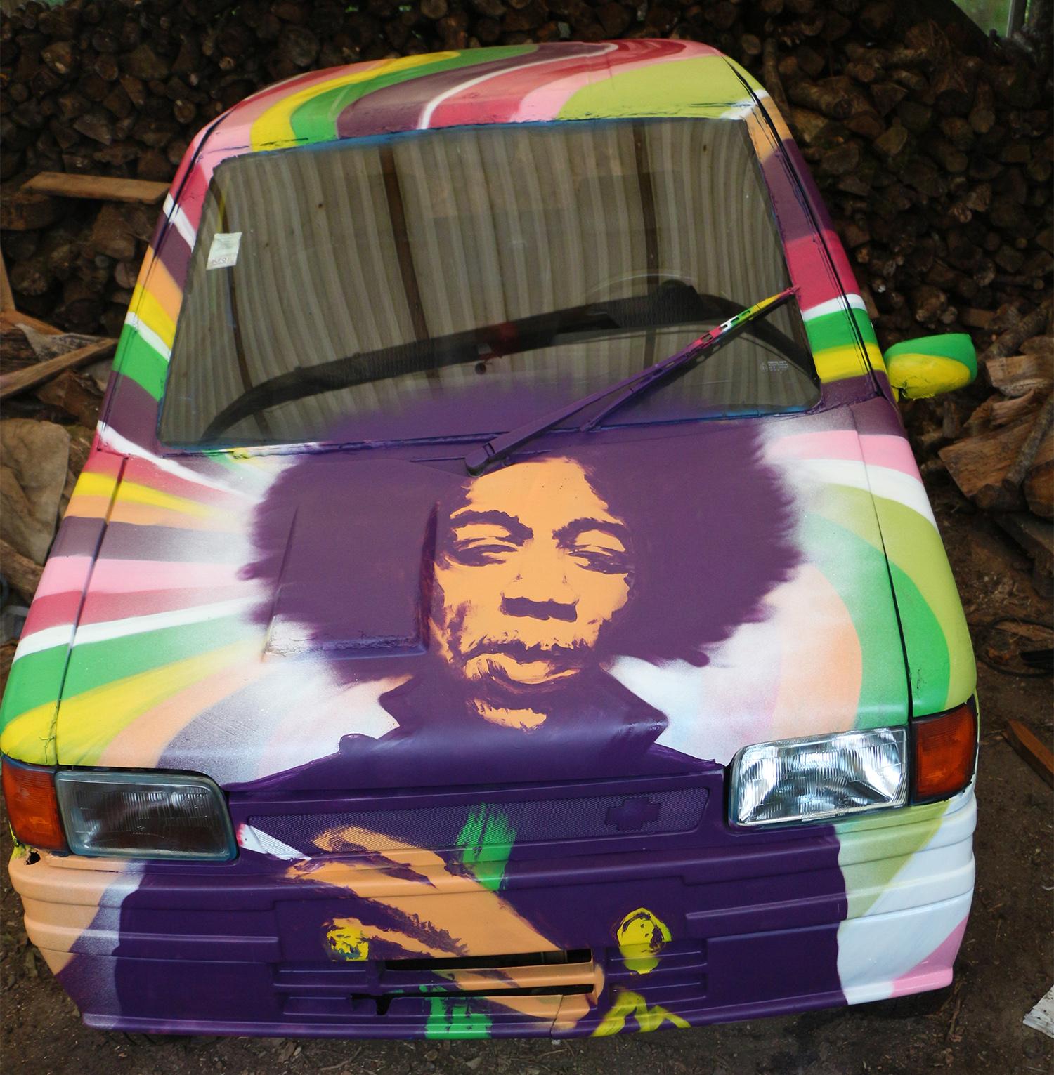 peinture voiture jimi hendrix