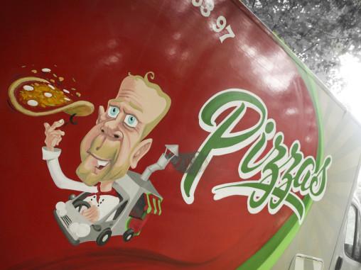peinture camion pizza