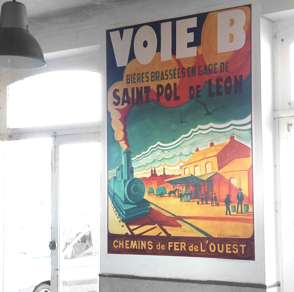 peinture affiche SNCF ancienne