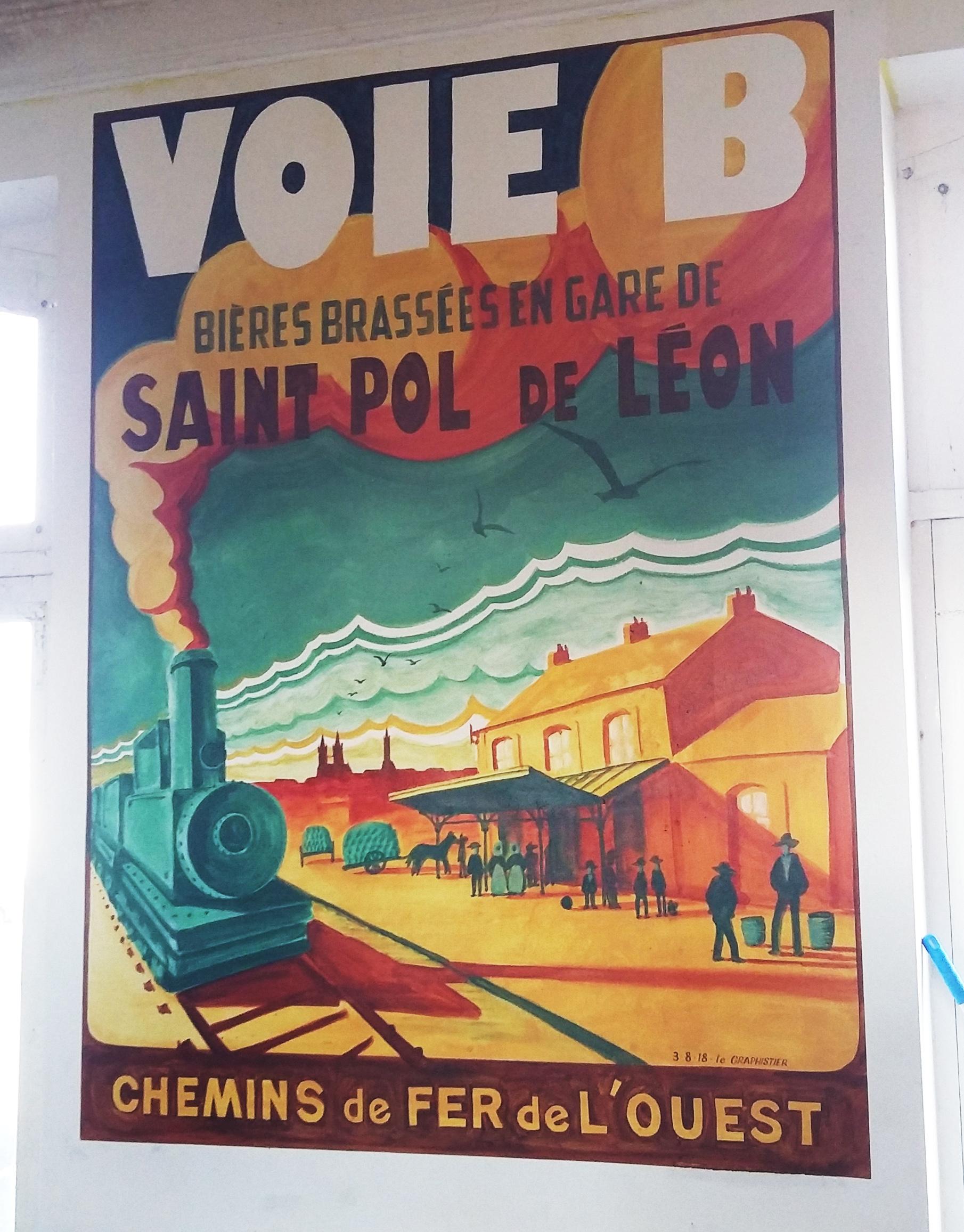 peinture affiche ancienne voieb